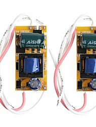 Недорогие -sencart 2pcs 4-7w 300ma 4-7x1w привело драйвер питания 4-7w переменного тока ac 85 v - 265 v