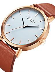 cheap -Men's Women's Casual Watch Fashion Watch Wrist watch Chinese Quartz Casual Watch Genuine Leather Band Casual Elegant Black Brown