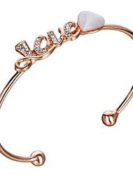 preiswerte -Damen Manschetten-Armbänder Imitierte Perlen Strass Koreanisch Modisch Künstliche Perle Diamantimitate Aleación Herz Schmuck Für Alltag