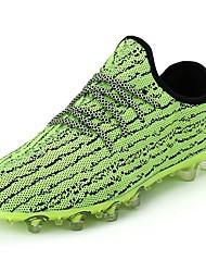 Masculino sapatos Borracha Primavera Outono Conforto Tênis Futebol Botas Curtas / Ankle Vazados Para Preto Cinzento Verde