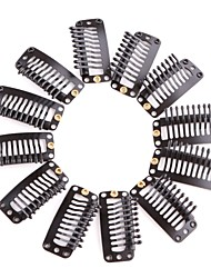 Neitsi 50Pcs 3.2cm I Shape Mental Snap Clip with Rubber Silicone for DIY Clip-ins Hair Weaves Extensions