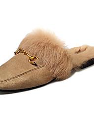 abordables -Femme Chaussures Polyuréthane Hiver Confort Sabot & Mules pour De plein air Noir Kaki
