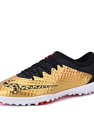 baratos -Homens sapatos Couro Sintético / Couro Ecológico Verão / Inverno Solados com Luzes Tênis Futebol Amarelo / Preto e Dourado / Azul