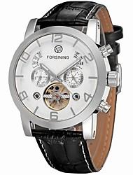 Недорогие -FORSINING Муж. Наручные часы Нарядные часы Модные часы С автоподзаводом Календарь С гравировкой Кожа Группа Роскошь На каждый день Elegant