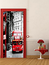 cheap -Transportation 3D Wall Stickers 3D Wall Stickers Decorative Wall Stickers, Vinyl Home Decoration Wall Decal Wall