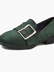 Femme Chaussures Laine synthétique Printemps Automne Confort Mocassins et Chaussons+D6148 Pour Décontracté Noir Marron Vert
