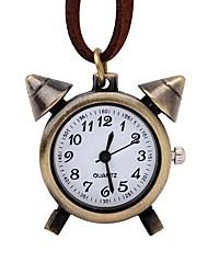 baratos -Mulheres Relógio de Bolso Chinês Quartzo Relógio Casual Couro Banda Legal Marrom