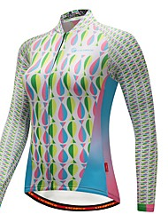 cheap -CYCOBYCO Women's Long Sleeves Cycling Jersey - White Bike Jersey, Thermal / Warm