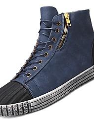 cheap -Men's Shoes Denim Fabric Spring Fall Comfort Sneakers For Casual Dark Blue Black