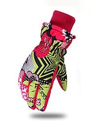 cheap -Ski Gloves Men's Women's Keep Warm Waterproof Printable Polyester Skiing Ski / Snowboard Winter