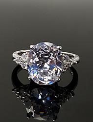 preiswerte -Damen Kubikzirkonia / Strass Sterling Silber / Kubikzirkonia Bandring - Retro / Elegant Silber Ring Für Hochzeit / Verlobung / Zeremonie