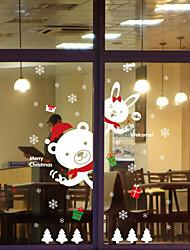 Noël Stickers muraux Stickers Autocollants muraux décoratifs,Tissu étanche Matériel Décoration d'intérieur Calque Mural