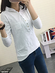 Women's To-Go Hoodie Solid Hooded Micro-elastic Polyester Long Sleeve Fall