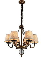 cheap -Rustic/Lodge Traditional/Classic Mini Style Adjustable Chandelier Uplight For Living Room Bedroom 1500lm 110-120V 220-240V Bulb Included