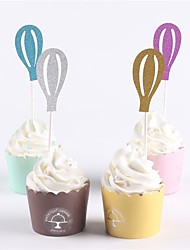 economico -cake topper classic theme baby shower new baby family compleanno rustico tema semplice stile paper party compleanno 12 opp