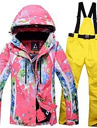 Mujer Chaqueta y pantalones de Esquí Templado Impermeable Resistente al Viento Listo para vestir Transpirabilidad Esquí Snowboard Algodón