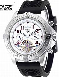 abordables -Hombre Reloj de Moda Reloj de Vestir Reloj de Pulsera Reloj Casual Cuerda Automática Calendario Caucho Banda Casual Cool