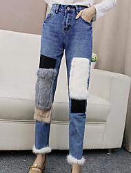 cheap -Women's Micro-elastic Jeans Pants,Active Color Block