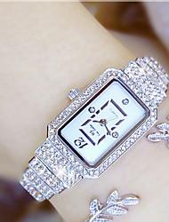baratos -Mulheres Relógio de Pulso Japanês Relógio Casual Aço Inoxidável Banda Amuleto Prata / Dourada