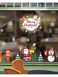 Недорогие -Рождество Наклейки Простые наклейки Декоративные наклейки на стены,Винил Украшение дома Наклейка на стену For Стена Окно