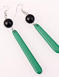 Недорогие -Жен. Серьги-слезки Несоответствие Мода Акрил Медь Геометрической формы Бижутерия Серый Зеленый Светло-серый Повседневные Бижутерия