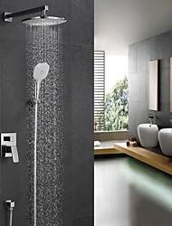 cheap -Modern/Contemporary Shower System Rain Shower Handshower Included Ceramic Valve One Hole Chrome