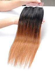 cheap -Brazilian Hair Straight Remy Human Hair Ombre Hair Weaves Human Hair Weaves Black / Medium Auburn Human Hair Extensions