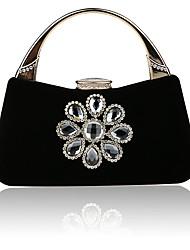 Недорогие -Жен. Мешки Джинса Вечерняя сумочка Кристаллы Красный / Миндальный / Пурпурный