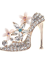 cheap -Women's Brooches Rhinestone Simple Elegant Crystal Alloy High-heeled Shoes Jewelry For Daily