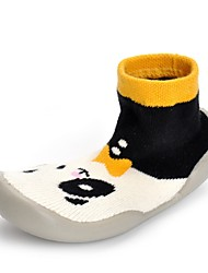 Baby Shoes Knit Spring Fall Comfort First Walkers Crib Shoes Flats Split Joint For Casual Party & Evening Black/White