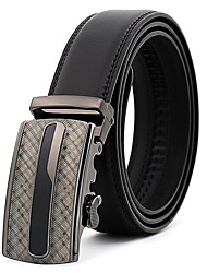 cheap -Men's Leather Alloy Waist Belt,Black Party Work Casual Solid Pure Color
