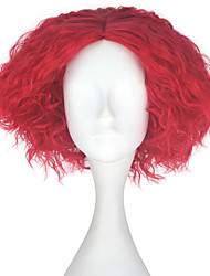 cheap -Synthetic Wig Kinky Curly Synthetic Hair Red Wig Men's Short Capless