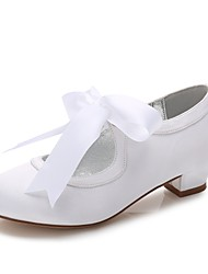 cheap -Girls' Shoes Satin Spring & Summer Tiny Heels for Teens / Flower Girl Shoes / Ankle Strap Heels Bowknot / Buckle / Split Joint for