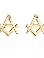 Недорогие -Золотой Запонки Медь Алфавит Для отдыха Муж. Бижутерия Назначение Валентин