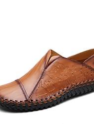 abordables -Homme Chaussures Similicuir Cuir Printemps Automne Confort Mocassins et Chaussons+D6148 Marche pour Décontracté Noir Jaune Brun Foncé
