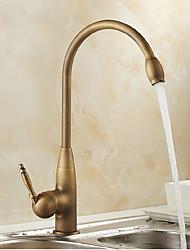 cheap -Antique Deck Mounted Temperature Adjustable Ceramic Valve Antique Brass, Kitchen faucet