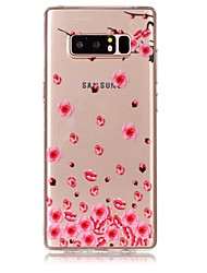 cheap -Case For Samsung Galaxy Note 8 Ultra-thin / Transparent / Embossed Back Cover Flower Soft TPU for Note 8