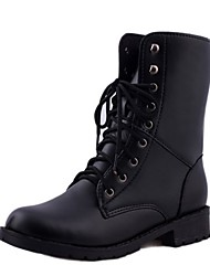 cheap -Women's Shoes Rubber Winter Fashion Boots Boots Low Heel Round Toe for Outdoor Black