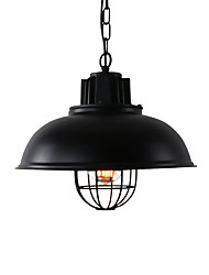 cheap -Northern Europe vintage Industry Black Metal pendant lights Dining Room Living Room Kitchen light