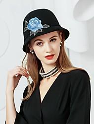 Недорогие -шерстяные ручные вышитые ткани шляпы головной убор классический женский стиль