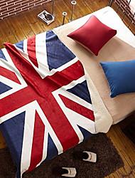 Super Suave,Estampado Bandeira Nacional Lã cobertores