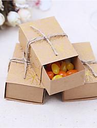 abordables -faveur titulaire-cuboïde carte papier satin faveur boîtes faveurs de mariage