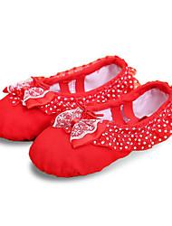 cheap -Women's Ballet Leatherette Full Sole Sneaker Professional Flat Heel Red Pink