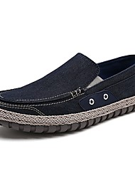 cheap -Men's Shoes Denim Spring Fall Comfort Loafers & Slip-Ons For Casual Gray Dark Blue