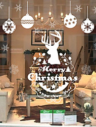 Christmas Animal Holiday Wall Stickers Plane Wall Stickers Decorative Wall Stickers,Paper Material Home Decoration Wall Decal