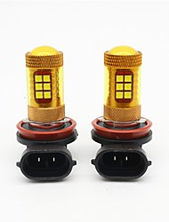 Il colore giallo dorato di 2pcs h8 / h11 56w ha condotto la luce di nebbia dell'automobile smd 3030 28 ha condotto la luce principale di