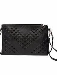 preiswerte -Damen Taschen PU Unterarmtasche Reißverschluss für Draussen Schwarz