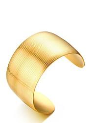 abordables -Femme Dorage 18K Bracelets Rigides Manchettes Bracelets - Rétro Elégant Or Bracelet Pour Mariage Fiançailles Quotidien