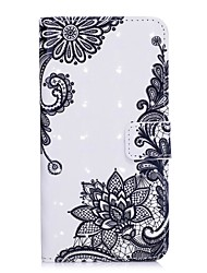 cheap -Case For Apple iPhone X / iPhone 8 Wallet / Card Holder / with Stand Full Body Cases Flower Hard PU Leather for iPhone X / iPhone 8 Plus / iPhone 8