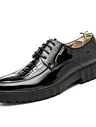 cheap -Men's Shoes Cowhide Leather Spring Fall Comfort Sneakers Appliques for Casual Black Dark Blue Light Red